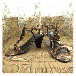 Franco Sarto Snakeskin Wedge Sandals